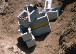 Concrete and block construction of ponds for Concrete block pond construction